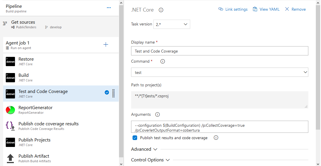 Azure DevOps and the Code Coverage